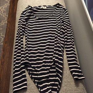 Madewell scoop neck stripe bodysuit black white M